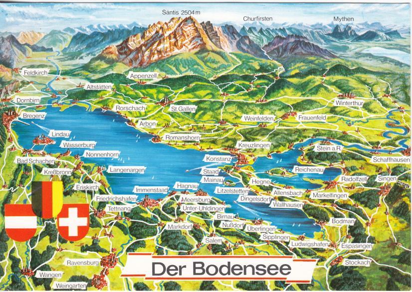 Karte bodensee schweiz for Bodensee karte